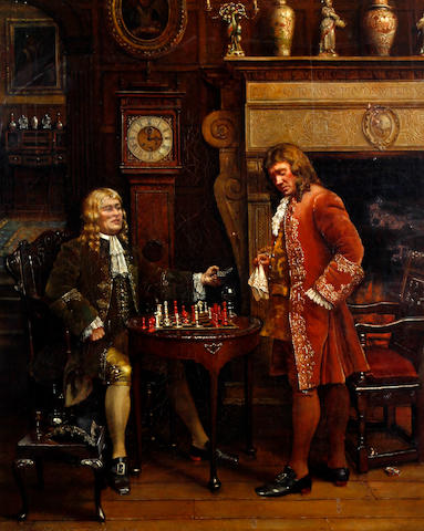 Maud Cruttwell (British, active 1889-1894) 'Check Mate'