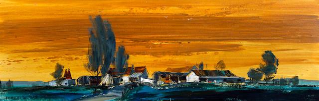 Michael Barnfather (British, born 1934) 'Farm near Ludlow'