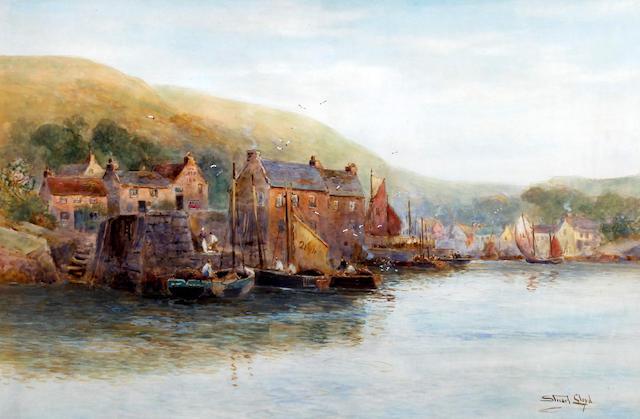 Stuart W. Lloyd (British, ?-1929) 'Polperro, Cornwall'