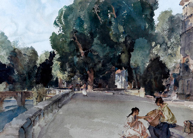 Sir William Russell Flint R.A., P.R.W.S. (British, 1880-1969) 'Festival of Santa Eulalia' & 'The Basket of Apples'