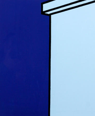 Patrick Caulfield (British, 1936-2005) Table Lamp and Building, a pair