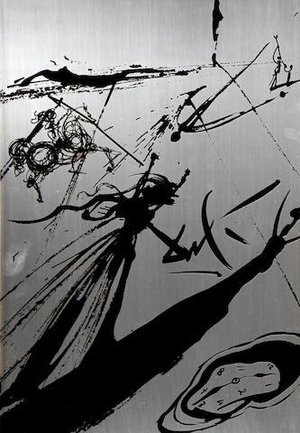 Salvador Dali (Spanish, 1904-1989) 'Sombia sur la Playa'