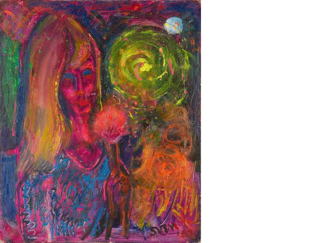 Sven Berlin (British, 1911-1999) Firework Girl unframed