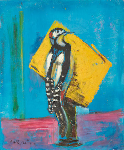 Sven Berlin (British, 1911-1999) Woodpecker unframed
