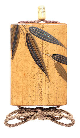 An unusual lacquered-bamboo inro By Taikai Tairei (1880-1971), 20th century
