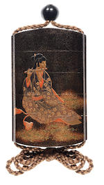 A lacquer four-case inro By Koma Kyuhaku, 19th century