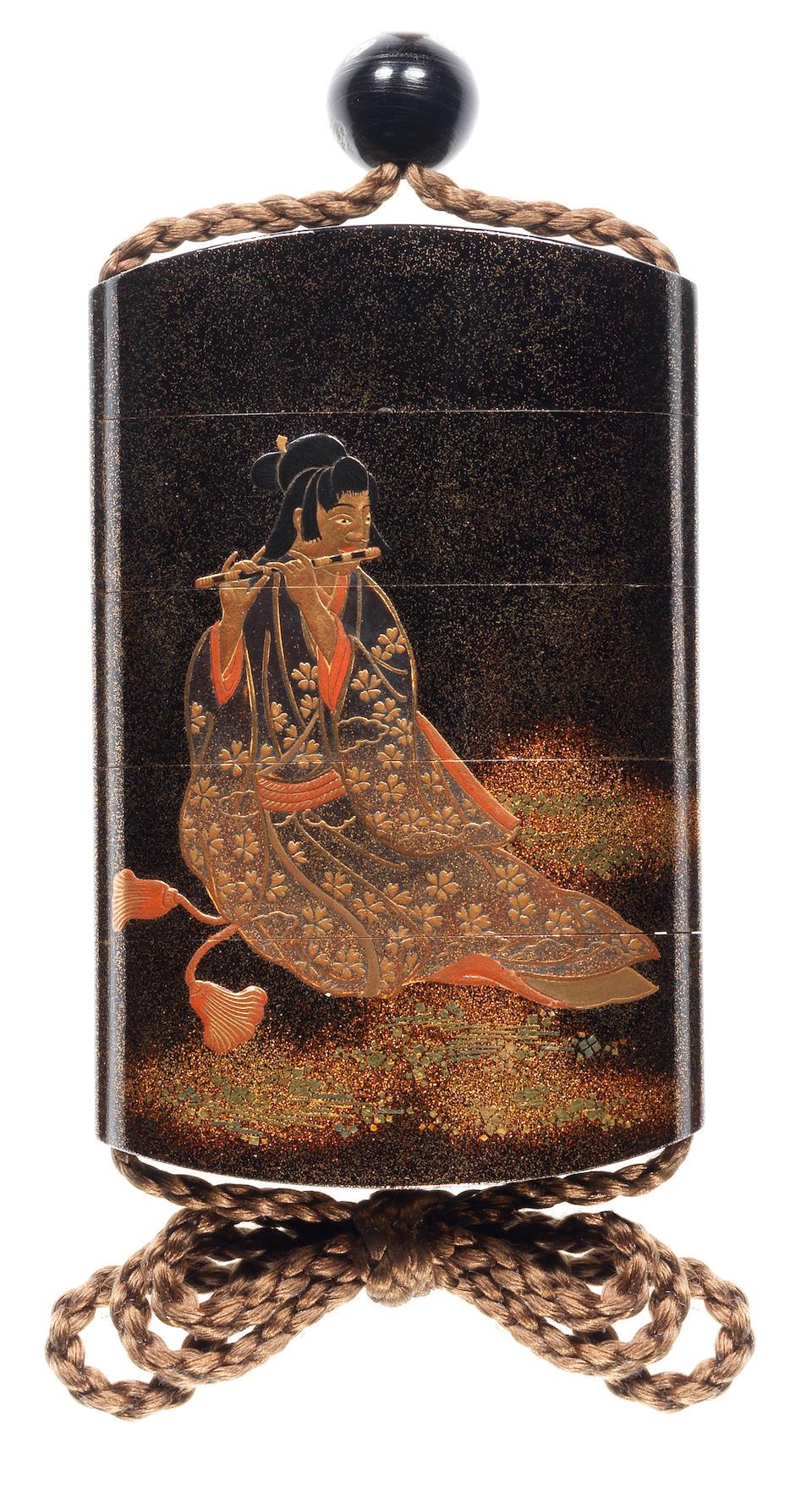 A lacquer four-case inro  By Koma Kyuhaku, 19th century