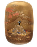 A gold lacquer four-case inro By Kakosai, 19th century