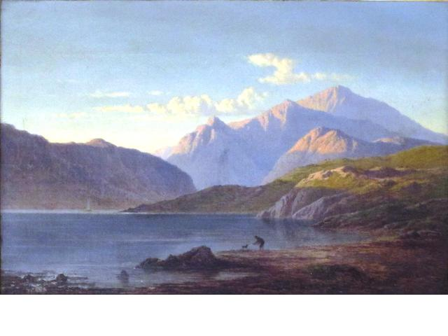 "Arthur Gilbert (British, 1819-1895) ""Evening"" towards Glencoe, looking from west end of Loch"