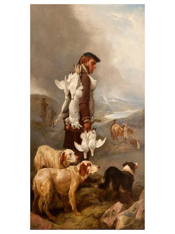 Richard Ansdell, RA (British, 1815-1885) Winter Shooting, Hares and Ptarmigan