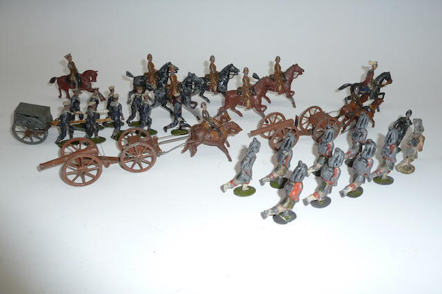 Britains and other early hollowcast toy soldiers