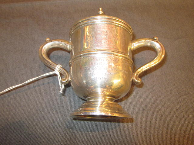 Royal St. David's Harlech: a silver two handled winner's replica trophy