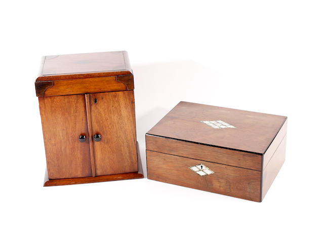 Two mid-late Victorian sewing/work boxes
