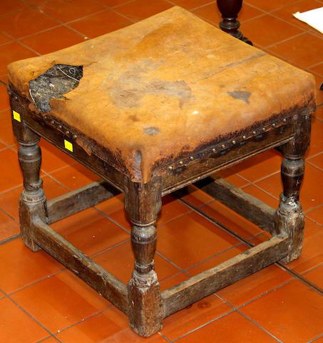 A small earley oak stool
