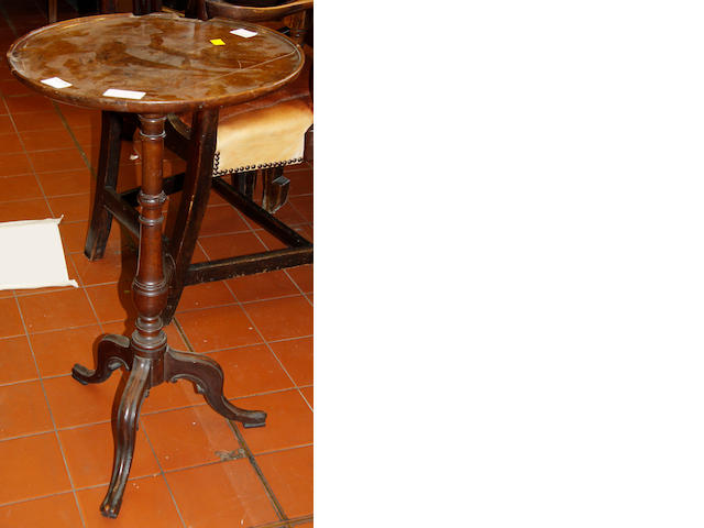 A George III mahogany tripod table,