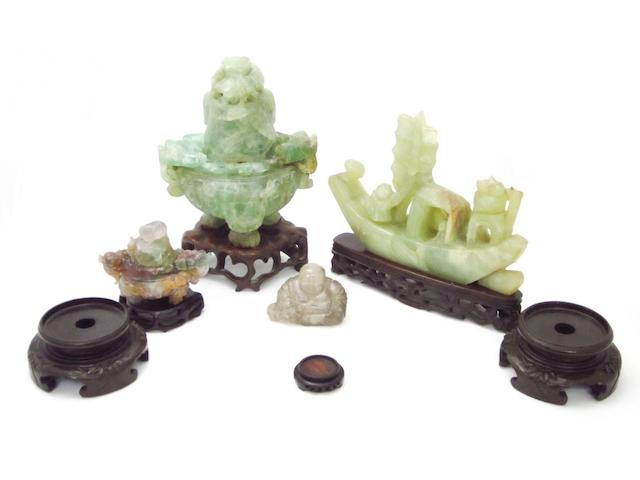 A group of mineral carvings 19th/20th century
