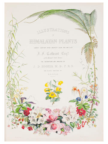 HOOKER (JOSEPH DALTON) Illustrations of Himalayan Plants, Chiefly from Drawings Made for the late J.F. Cathcart, of the Bengal Civil Services
