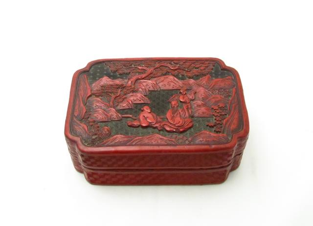 A cinnabar lacquer box 20th century