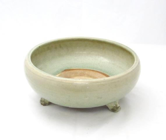 A Longquan celadon tripod censer Ming
