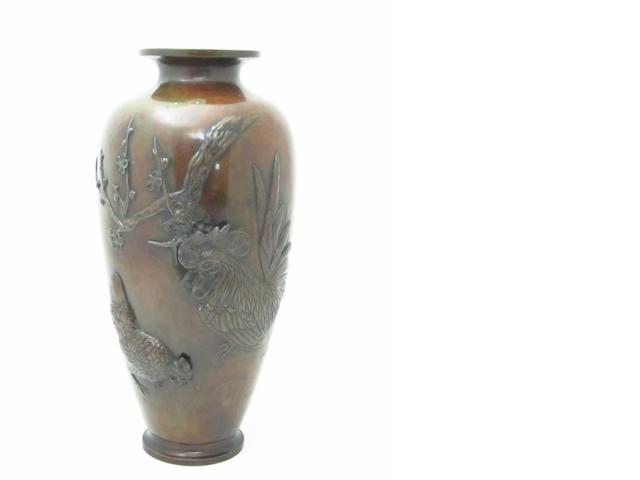 A large bronze vase Circa 1900