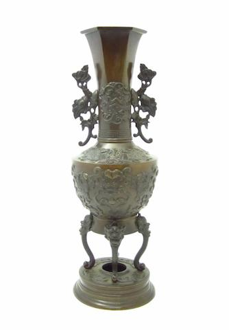 A bronze vase Circa 1900