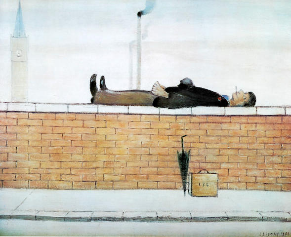 Laurence Stephen Lowry R.A. (British, 1887-1976) 'Man on the Wall'