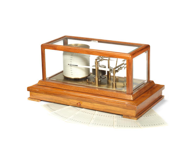 A teak frame recording barograph  by Negretti & Zambra, London,