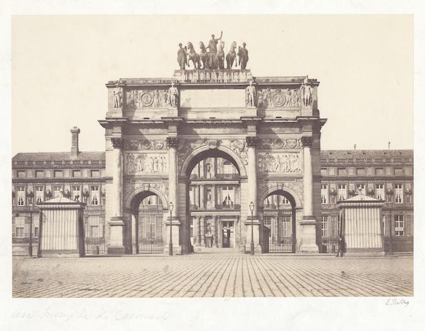 PHOTOGRAPHY. BALDUS (EDOUARD-DENIS) A group of 4 views of Paris, [c.1860] (4)