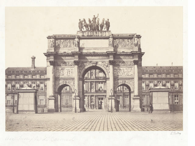 PHOTOGRAPHY. BALDUS (EDOUARD-DENIS) A group of 4 views of Paris, [c.1860] (4)