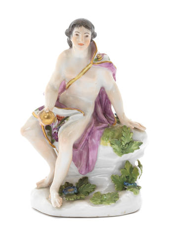 A Meissen figure of Paris with the golden apple, circa 1750