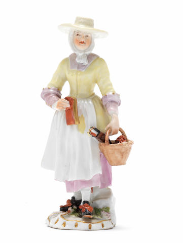 A rare Meissen 'Cries of London' figure, circa 1755