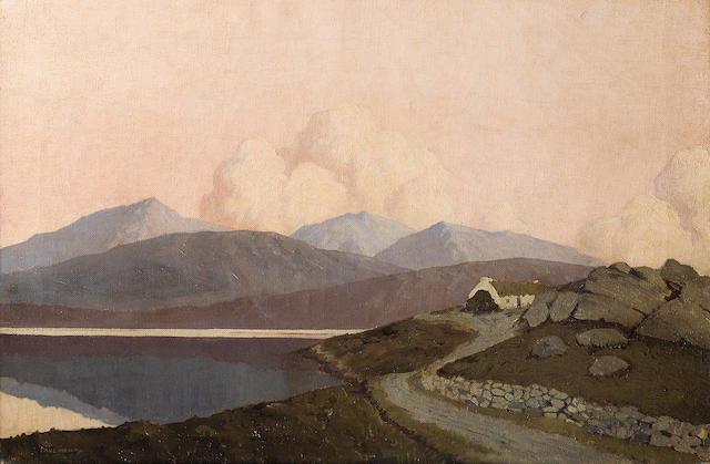 Paul Henry R.H.A. (Irish, 1876-1958) A scene near Achill Sound 40 x 60.8 cm. (15 3/4 x 24 in.)