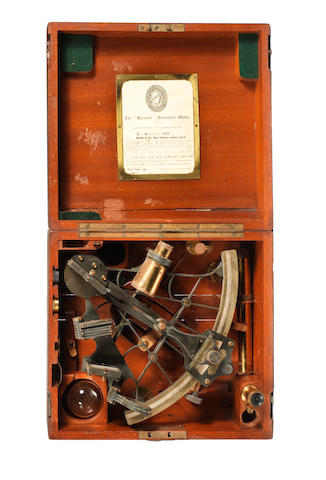 An 8ins.(20cm) radius bell frame sextant, by Heath & Co.Ltd. Crayford. 2