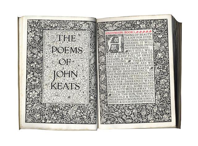 KELMSCOTT PRESS KEATS (JOHN) The Poems, LIMITED TO 300 COPIES, 1894