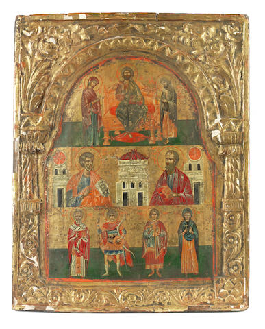 The Deisis and Selected Saints Greek School, late 18th century