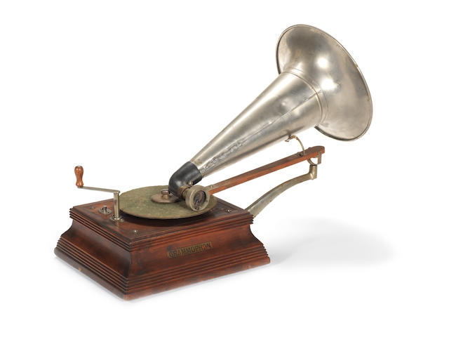 A German New Style No. 3 travelling-arm 'Grammophon',  circa 1904,