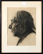 English School Early 20th Century Portrait of an elderly man, shoulder length, and three further similar studies by the same hand and smaller (4)
