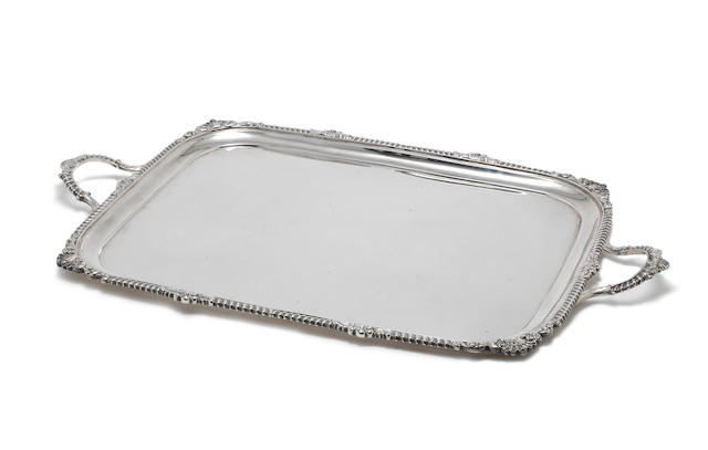 A silver two-handled tray by Charles Stuart Harris London 1903