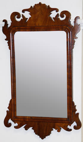 A 19th Century mahogany fret cut wall mirror