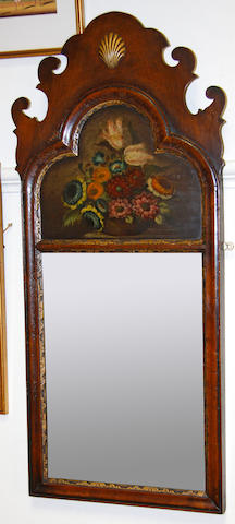 A Queen Anne style mahogany fret cut wall mirror early 20th Century