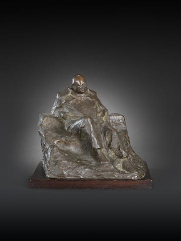 Oscar Nemon (British, 1906-1985) Sir Winston Churchill seated 24.5 cm. (9 2/3 in.) high (excluding base)