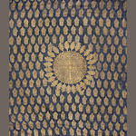 A printed black cotton length decorated with gold roundels Rajasthan, 20th Century