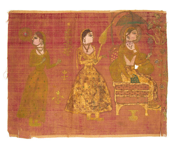 Three velvets North India, 19th century(3)