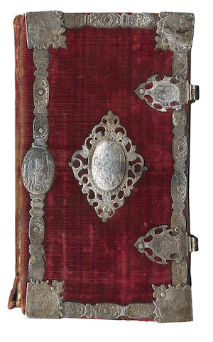MONTAGU (HENRY, 1st Earl of Manchester) Manchester al mondo. Contemplatio mortis, & immortalitatis, MANCHESTER FAMILY COPY, CONTEMPORARY VELVET BINDING WITH SILVER FITTINGS, 1633