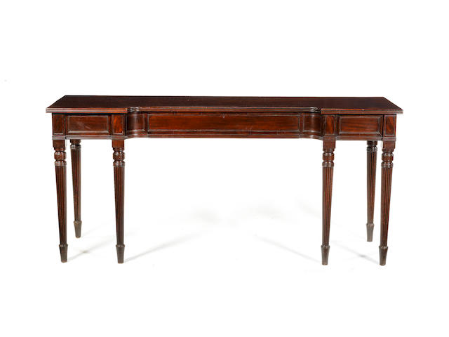 A Regency mahogany serving table in the manner of Gillows