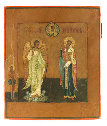 A Guardian Angel and Saint Ignatius Russia, 19th century<BR />