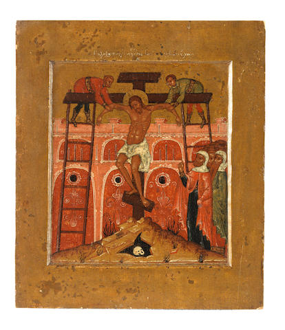 The Deposition from the Cross Russia, late 17th century<BR />