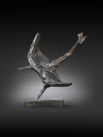 Bernard Meadows (British, 1915-2005) Frightened Bird 15.2 cm x (9 7.8 in.) high (including base)