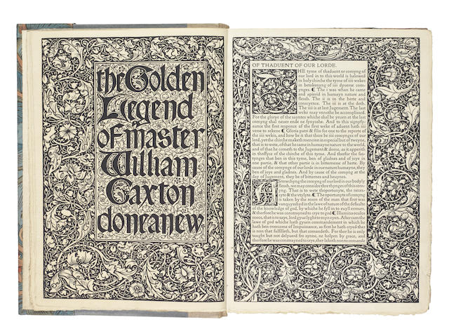 KELMSCOTT PRESS. VORAGINE (JACOBUS DE) The Golden Legend, 3 vol., LIMITED TO 500 COPIES, [1892]