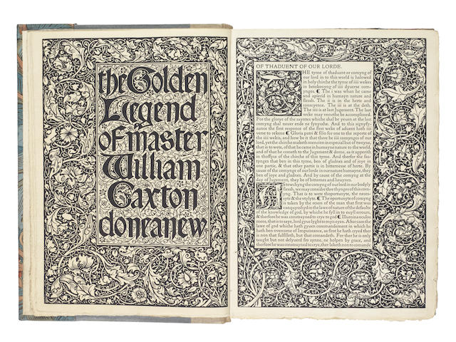 KELMSCOTT PRESS VORAGINE (JACOBUS DE) The Golden Legend, 3 vol., LIMITED TO 500 COPIES, [1892]